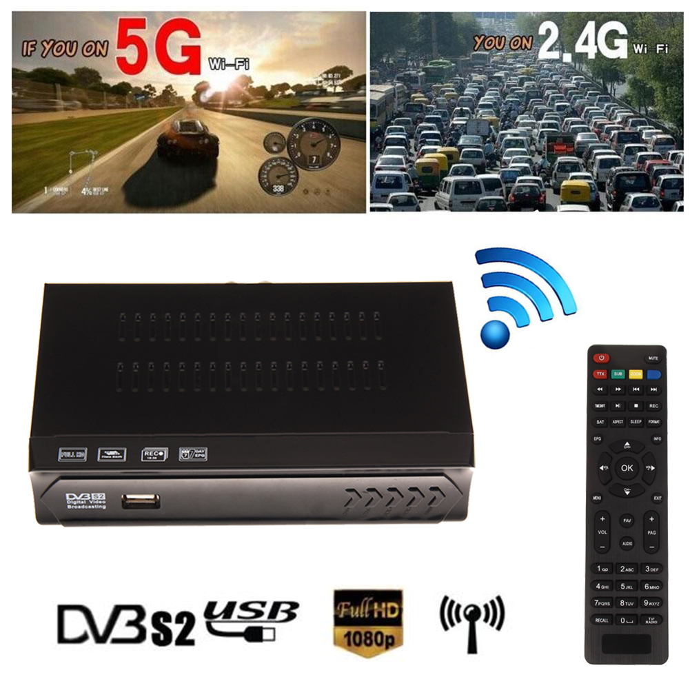 2016 New Universal ball M5-S2 Digital TV Receiver Box HD 1080P FTA MPEG4 H.264 TV Receiver With Remote Control NI5L(China (Mainland))