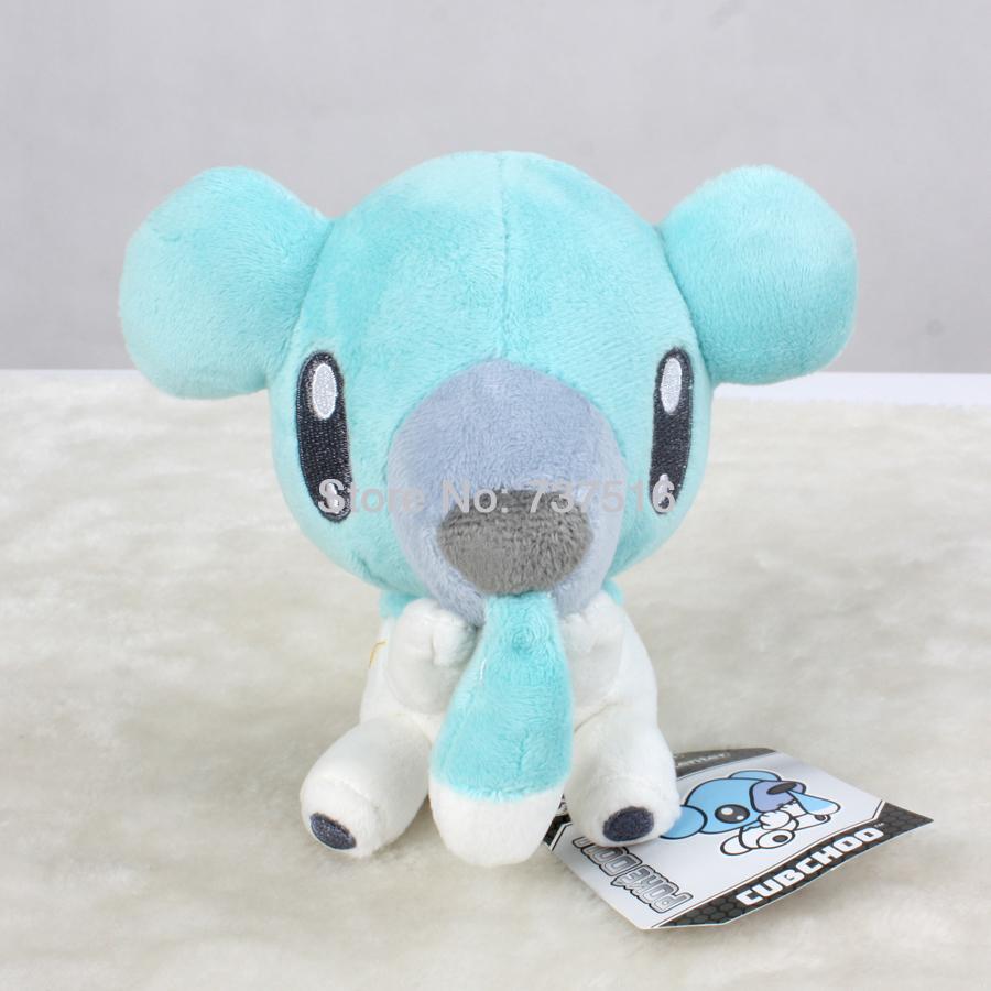 "Cubchoo / Kumasyun Pokemon Black & White Plush Toy 6"" Bear New/wtag kids doll toys Stuffed Animals & Plush(China (Mainland))"