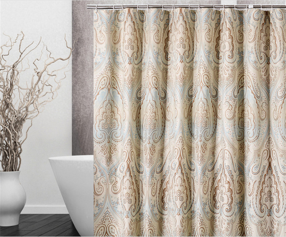 High Quality Polyester Waterproof Mildewproof Bathroom Shower Curtain&Shade America Style Bath Curtain(China (Mainland))