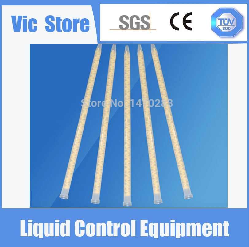 Resin Static Mixer MS13-36 Mixing Nozzles for Duo Pack Epoxies (Yellow core)(China (Mainland))