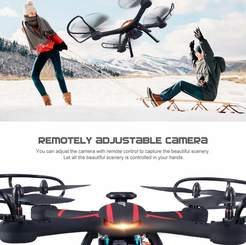 JJRC H11WH Drone With 2MP Wifi Rotatable Camera Height Hold Mode One Key Land  Rc Quadcopter Fpv Drone Helicopter Vs Syma X5HW