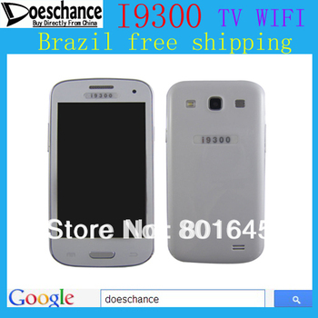 Hot selling I9300  4.0 inch touch screen Dual band dual sim  Dual camera cell phone