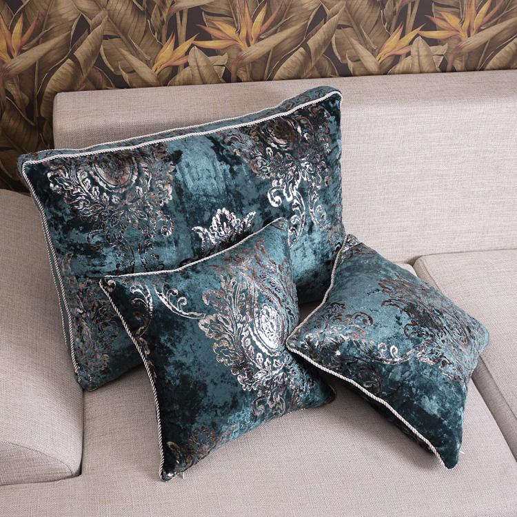 Sle01 Luxury Velvet Sofa Fabric Cushion Pillow Big Back