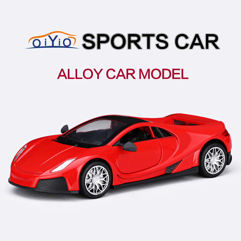 Free shipping 1:32 Alloy Mental Diecast Car Model Vehicle Toy Collection With Sound & Light Sports Racing Cars Model Red VB32173(China (Mainland))