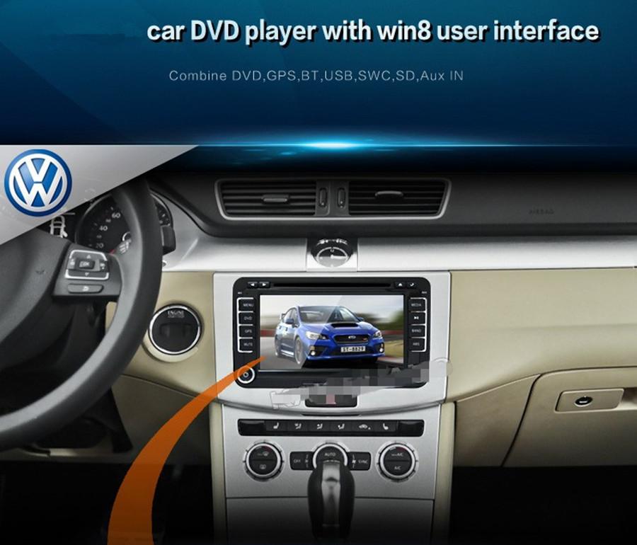 "7"" Car GPS Stereo DVD player FOR VW Golf MK5 MK6 GTI JETTA GPS navigation Bluetooth Radio iPod gps map card+Rear view camera"