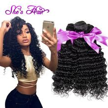 Indian Remy Hair Curly Virgin Hair Extensions 10A Indian Deep Wave Hair Bundles Good Quality Raw Virgin Indian Hair Deep Curly(China (Mainland))