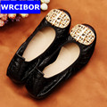 2017 Ballerina flats for women loafers shoes woman casual slip on genuine leather shoes moccasins ballet