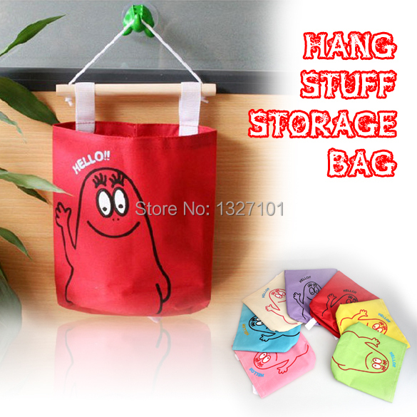 Colors Cute Hang Up Storage Bag Wall Decorative Stuff Storage Organizer(China (Mainland))