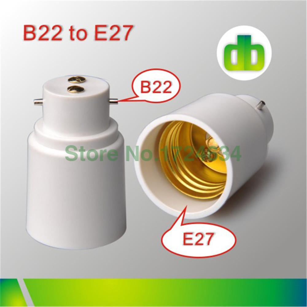 2015 hot sell 1pcs White PBT B22 a E27 or B22 to E27 lamp socket for led lamp made in china(China (Mainland))