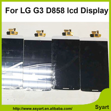 Free dhl Wholesale full oem cell phone  lcd display for LG G3 D850 D855 touch screen glass screen digitizer replacement parts