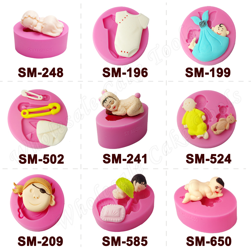 One piece baby petal flower cake fondant cutters, cake decorating tools, fondant mold/tools,cupcake mold silicone forms(China (Mainland))