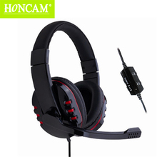 Honcam 4in1 Gaming Headset Hifi Stereo Wired Wrapped Earphone Game Headphone with Microphone for PS3 PS4 XBOX 360 PC Laptop