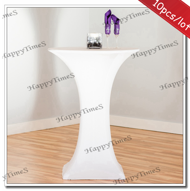 10pcs/lot Wedding&Banquet Decorations White Spandex Lycra Cocktail Tablecloth Table Covers(China (Mainland))