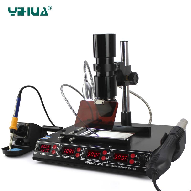 yihua1000b bga rework station laptop motherboard repairing station in electric soldering irons. Black Bedroom Furniture Sets. Home Design Ideas