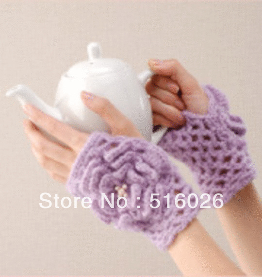 wholesale women hand crochet fingless glove, sexy women accessory, hand jewelry, Lace, short elegant fingerless glove 2pair/lot