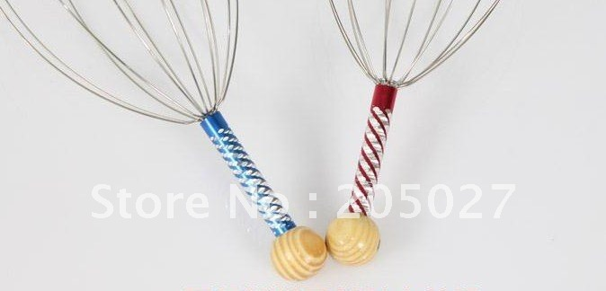 Mini stainless steel manual vibrating scalp hand head massager massor stroker  massager
