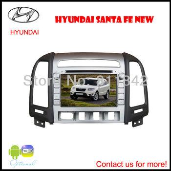 "8"" Car DVD Player for Hyundai Santa Fe 6.0 4GB Map GPS 720P ATV Canbus I-Pod FM BT Steering wheel control"