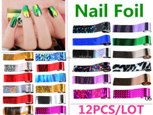 50%OFF Newest Fashoion Nail Foils 72Designs DIY Decoration Nail Tools 12PCS/Lot Beautiful Nail Stickers Hot