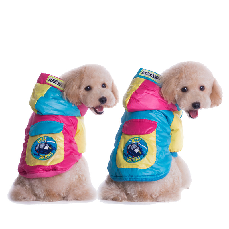 Newest Dog Coat Jacket Pet Clothes Winter Cotton Soft Thick Warm Teddy Pomeranian Chihuahua S M L XL XXL Leisure For Small Dogs(China (Mainland))