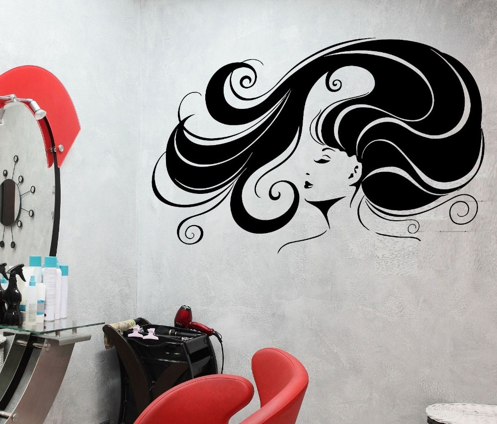 Barber shop decals - Stickers deco salon ...