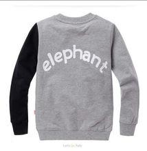 Kids Boys Long Sleeve Tops Color Block Animal Elephant Sweater T shirt Size 3 8Y