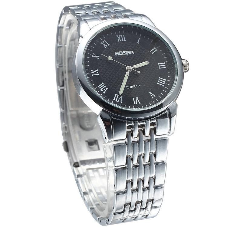 Top Brand Luxury Gold Silver Stainless Steel Band Strap Quartz Watch Watches Men Luxury Brand