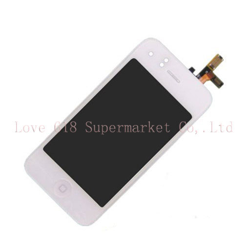 Free Shipping For iPhone 3GS Compatible Front Housing New LCD Digitizer Glass Touch Screen Assembly -White(China (Mainland))