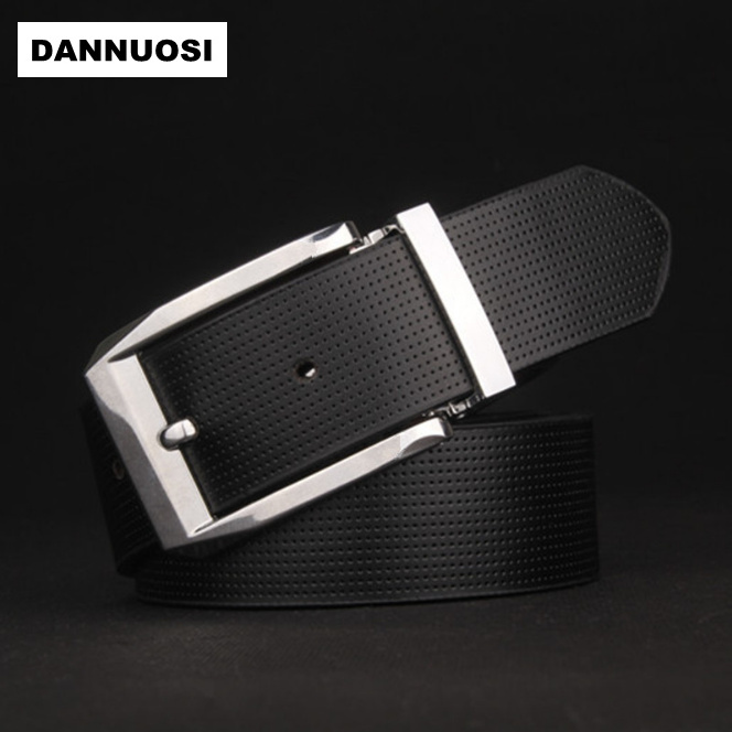 [DANNUOSI] The new high-end men's leather pin buckle leather belt men's high quality fashion business belt leisure wild belt(China (Mainland))