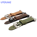 Hot Sale Quality Crazy Horse Leather Watch Band 24mm Khaki For Suunto essential Watch Strap Suunto