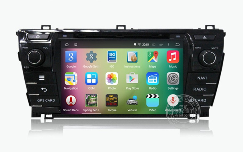 Car PC Android 4.4.4 TOYOTA COROLLA 2014 Car DVD Player with GPS WIFI 3G Radio stereo multimedia player SWC Free map(China (Mainland))