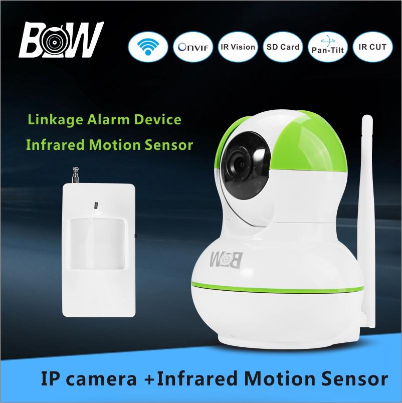 IP Camera System CCTV Baby Monitor + Infrared Motion Sensor Mini Camera Wifi 720P HD Video Surveillance Camera Security BW12GR(China (Mainland))