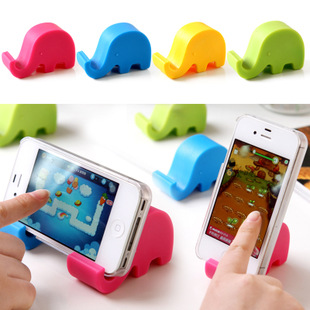 2pcs 2015 new free shipping Mobile phone holder phone holder cute elephant tablet computer support bracket 21g(China (Mainland))