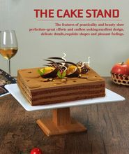 C tall ceramic cake stand dessert tray fruit dish Western desserts glass cover dust cover
