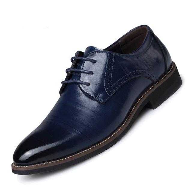 Горячая! Мужская бизнес формальные кожаные ботинки из натуральной кожи узелок оксфорды ...