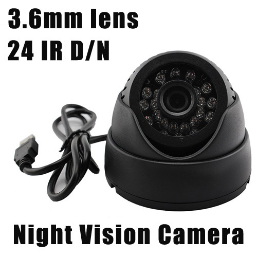 Night Vision Surveillance Camera IR Dome Security Color CCTV Audio CMOS Camera wide angle 3.6mm lens 24 IR D/N with TF Card Slot(China (Mainland))