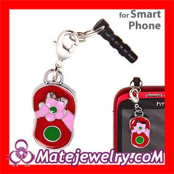 10 pcs/lot 2013 New Arrival Cute Accessories Alloy Enamel Slipper Charms Anti Dust Earphone Jack Plug For Smart Phone ,EC0028-2(China (Mainland))