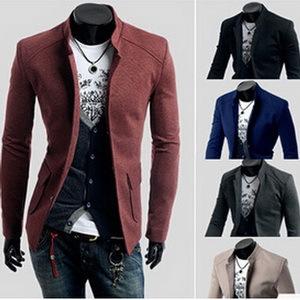 M-2XL 5 Colors 2014 Tops Brand Men Blazer Jeans Solid Stand Collar Slim Man Suit Outdoor Jackets Dress Blazers Business AX822 - APPLETREE FASHION DESIGN CO.,LTD. store