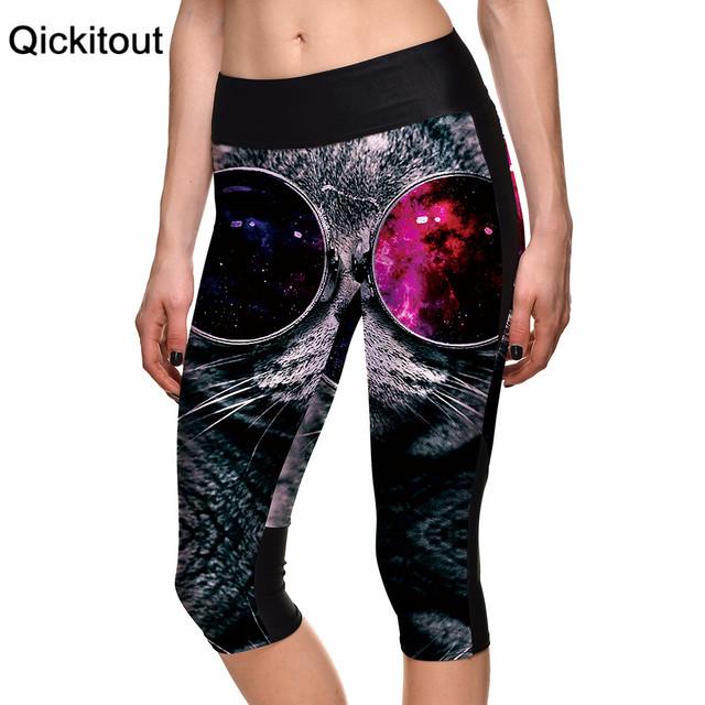 Мода новое поступление сексуальный 2015 женщин 7 точка брюки большими глазами милый ...