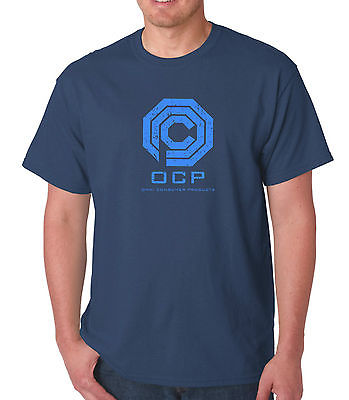 ROBOCOP - T-SHIRT - OCP LOGO - CULT MOVIE - SCREEN PRINT - S to XL - 100% cotton Free Shipping(China (Mainland))