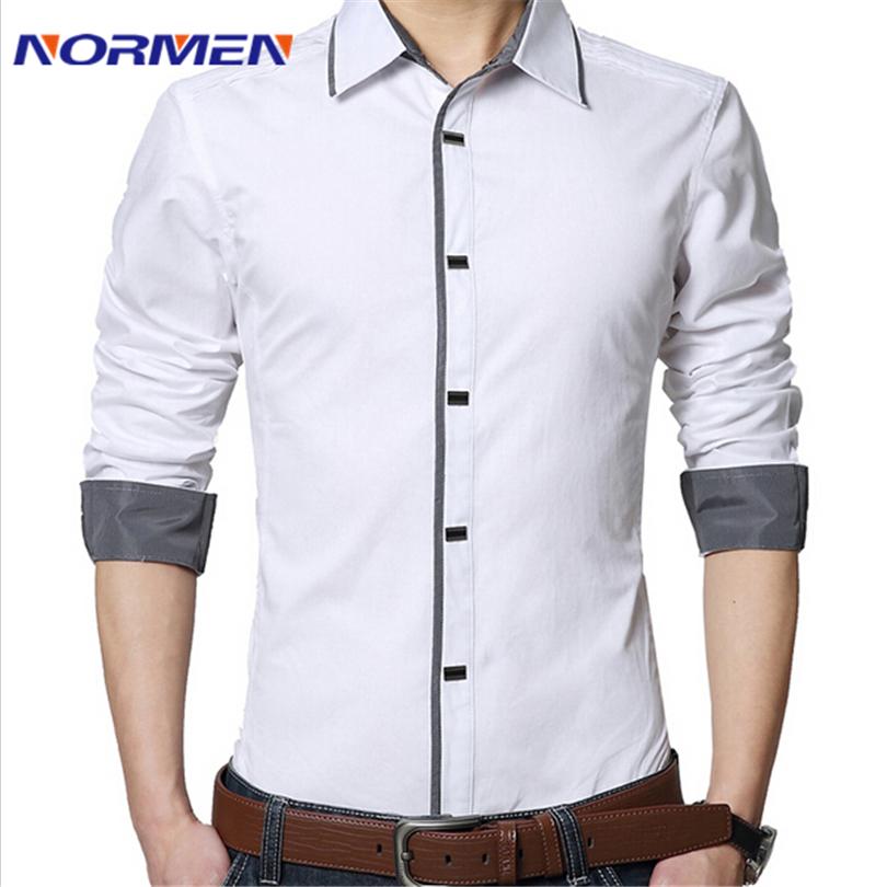Мужская повседневная рубашка 2015