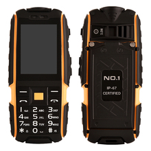 Original NO.1 A9 2.4 Inch Flashlight 4800mAh Waterproof Shockproof Rugged GSM Unlock Outdoor Cell Phone Dual SIM 320 x 240