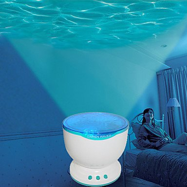 Led Night Light Projector Ocean Blue Sea Waves Projection Lamp with Speaker(China (Mainland))