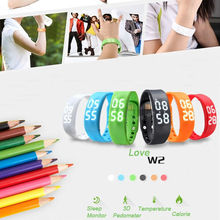 w2 Bluetooth 4.0 Fitness Activity Tracker Smart Band Wristband Pulsera Inteligente Smart Bracelet Not Flex ios