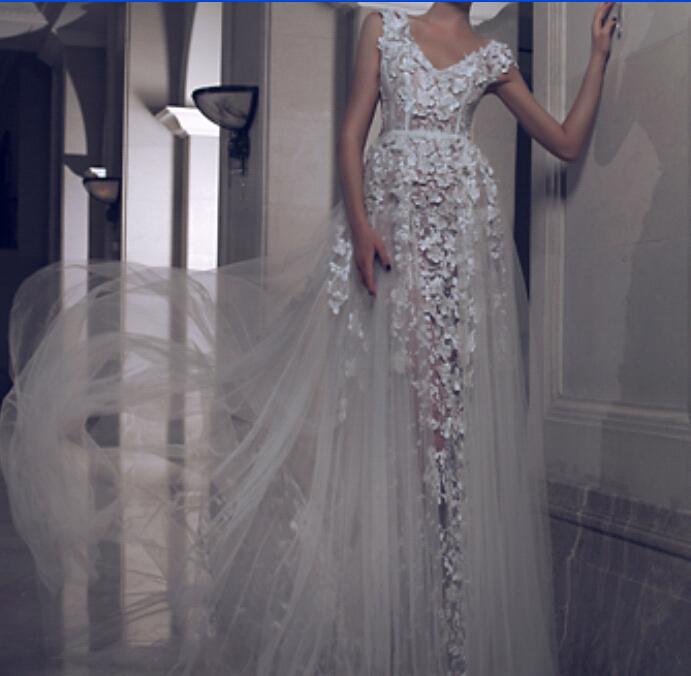Celebrity dress Yousef Aljasmi Charbel Karam Myriam fares Custom Long Dress sleeveless V-Neck A-Line Evening - Modern-Zone1995 store