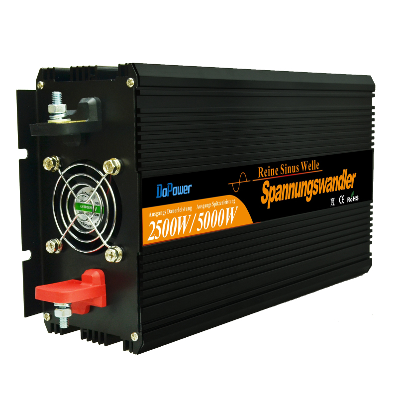 Top quality 2500w peak 5000W pure sine wave inverter DC 12V to AC 220V for household appliances(China (Mainland))