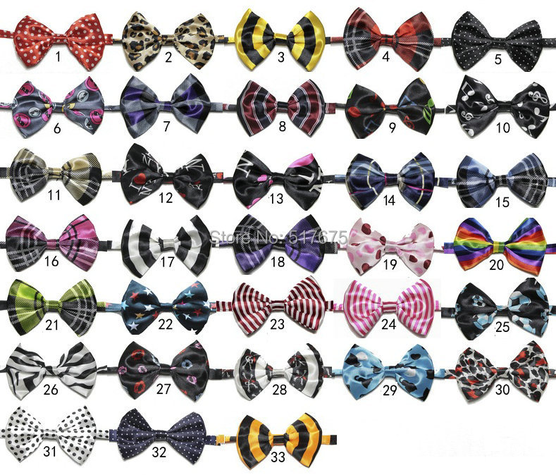 50 designs fashion Cute printed ties kids baby boys children Pet monolayer bow ties necktie 50pcs/lot free shipping(China (Mainland))