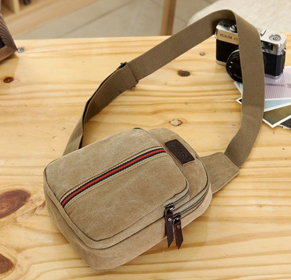 New 2015 men Vertical stripes washed canvas bag designer handbags tote bag casual shoulder bags man bag sacoche Chest pack(China (Mainland))