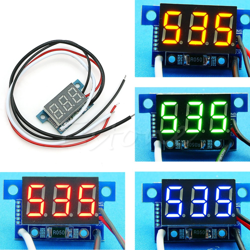 Free Shipping 1Pc Mini LED 0-999mA DC 4-30V Digital Panel Ammeter Amp Ampere Meter with Wire<br><br>Aliexpress