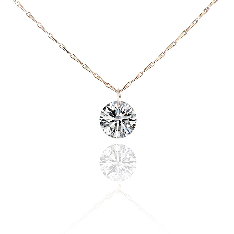 Luxury Women Wedding AAA CZ Diamond Zircon Pendant & Necklace Fashion Clavicle Chain Party Neckless Bijoux Jewelry NL-0220(China (Mainland))
