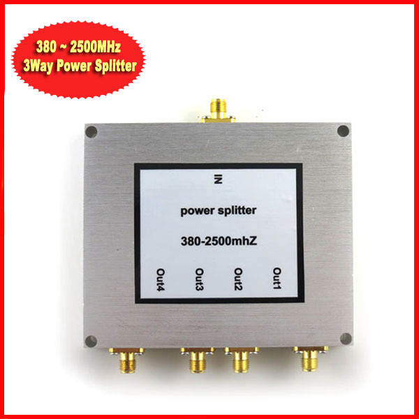 Sunhans 380~2500MHz 4-way SMA Power Divider/Splitter For Mobile phone repeater wifi booster Free shipping